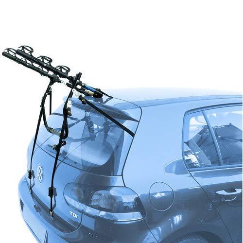 EMMEA PORTABICI Posteriore Auto 3 Bici Regolazione Cinghie Biciclette Compatibile con Peugeot 206 CC 2P (00-07) Acciaio CARICO Max 45KG Protezione TELAI Cruiser Delux
