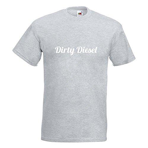 KIWISTAR - Dirty Diesel dreckiger T-Shirt in 15 verschiedenen Farben - Herren Funshirt bedruckt Design Sprüche Spruch Motive Oberteil Baumwolle Print Größe S M L XL XXL Graumeliert