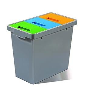 Mattiussi Ecologia Polymax Mini Sistema Modulare, Plastica, Grigio Scuro, 49x29x42 cm