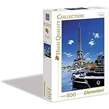 Clementoni - Puzzle 500 Piezas Paris Torre Eifel 17-30302