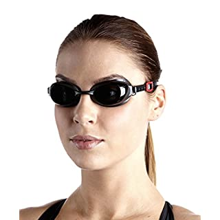 Speedo Aquapure Optical Gog AU Goggles, unisex adult, Aquapure Optical GOG AU, Oxid Grigio/Grigio Fumo