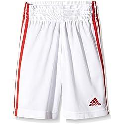 adidas Y COMMANDER S - Pantalón corto para hombre, color blanco / rojo, talla 128