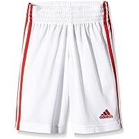Adidas G7663715 Pantaloncini da Basket da Giovani, rosso/bianco, 176