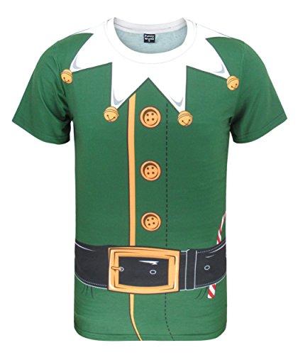 Funny World Herren Elfen Kostüm T-Shirts (M, -