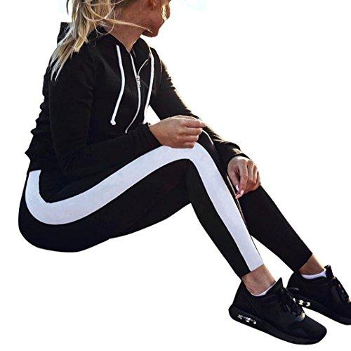 Women's Sports Leggings High Waist Yoga Pants Stripe Tights Essentials Trousers
