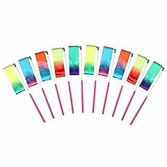 Idea Regalo - MUAI 10 Pezzi 2 metri Palestra Nastro per ginnastica ritmica,Danza nastri di Ginnastica Ritmica Streamer Baton Twirling Rod seta Attrezzi per Bambini,Colore Stella