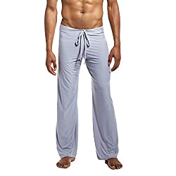 Hosen Herren Pure Home Hosen Yoga Hosen binden bequem (S,Grau)