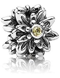Pandora Damen-Charm 925 Sterling Silber Zirkonia Moments gelb 791176CZY
