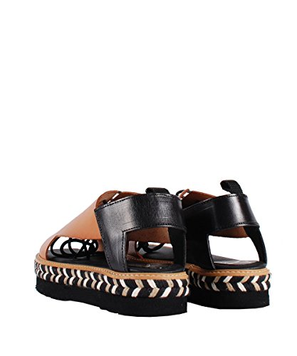 Farewell X499 Sandal Tin Natural - Sandales marrons cuir et caoutchouc Marron