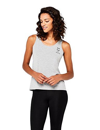 AURIQUE Camiseta Deportiva Mujer, Gris (Grey Marl), 38 (Talla del fabricante: S)