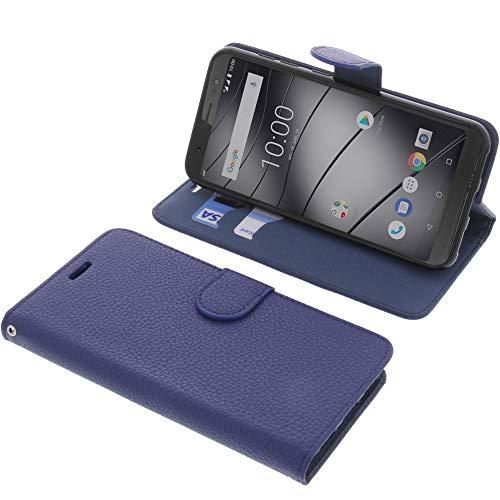foto-kontor Tasche für Gigaset GS185 Book Style blau Schutz Hülle Buch