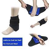 Kühlpads Coolpacks Gel Kühlkissen Kalt Warm Kompresse für Knöchel Fuß - Verletzungen der Achillessehne, Plantarfasziitis, Bursitis, Wund Füße