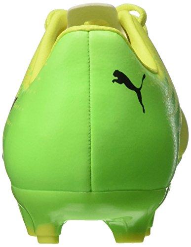 Puma Evospeed 17.5 Ag Jr, Chaussures de Football Mixte Enfant Jaune (Safety Yellow-puma Black-green Gecko 01)