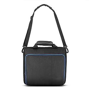 Zerone Große Kapazität Travel Storage Tragetasche, Tragbare Schützende Schultertasche Handtasche für Playstation 4 Console Tragetasche Zubehör