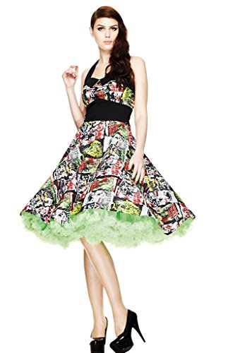 Neue Hell Bunny B-Movie Horror Comic Rockabilly 50er Jahre Vintage-Stil Halloween Party Kleid (XL...