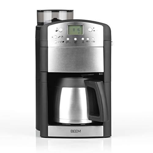 BEEM 02049 Fresh-Aroma-Perfect Thermolux (Verbesserte Version 2019!) | Kaffeemaschine mit Mahlwerk (92°C, 1000 Watt) | Für 2-10 Tassen | inkl. Umfangreichem Zubehör | Silber