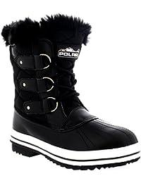 Damen Schnee Stiefel Nylon Short Schnee Pelz Regen Wasserdicht Stiefel