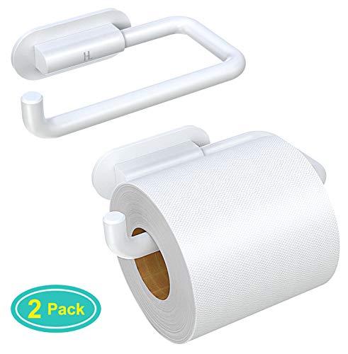 Cocoda Toilettenpapierhalter ohne Bohren, Selbstklebender Klopapierrollenhalter mit Anti-Fall Widerhaken, Durabler PC-Kunststoff Stilvoller Klorollenhalter für Toilette, Küche und Badzimmer, 2 Stück