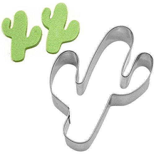 (RUSTO Weihpe Edelstahl Plätzchenform Kaktus Design Backzubehör für Keks Backen Fondant Plätzchen Tortendekorationen)