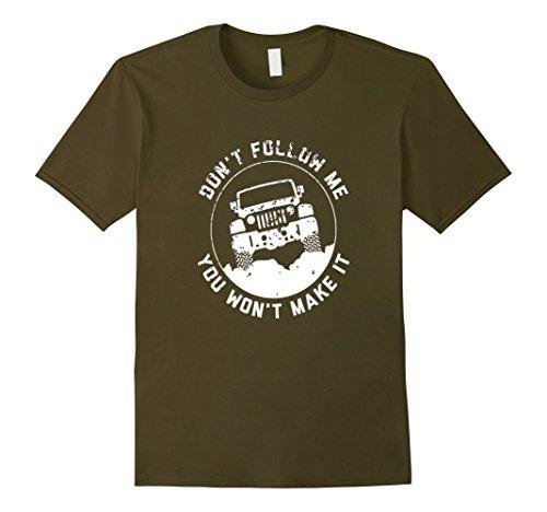jeep-t-shirt-dont-follow-me-you-wont-make-it-herren-grosse-m-olivgrun