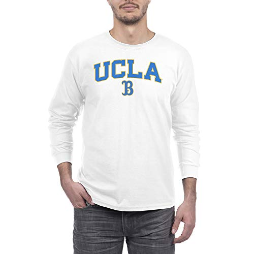 eLITe NCAA Herren Langarmshirt Weiß, Herren, Long Sleeve Shirt White Arch, UCLA Bruins White, Large - Ucla-t-shirt Jersey