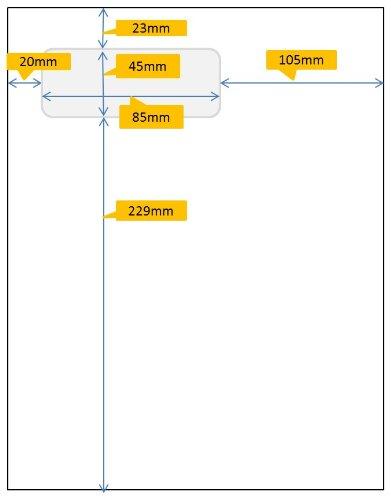 Avery Stickn'go 500 Feuilles avec Etiquette Intégrée - 85x45mm - Compatible Seller...