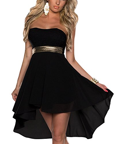 Donna Vestiti A Tubino Senza Spalline Asimmetrico Vestito Da Matrimonio Banchetto Sera Dress Nero
