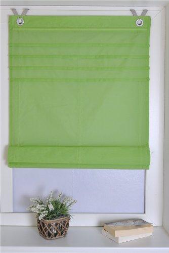 Estor plegable Kessy Biese verde con ojales y ganchos, 45 * 140 cm