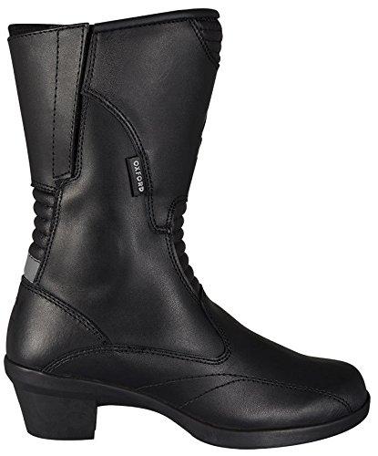 Oxford, stivali da donna Valkyrie, impermeabili, stivali da motociclista, in pelle, con tacco, colore nero, misura 40