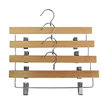 Proman Products Straight Hanger with Clip, Natural, 50 Pcs/Box