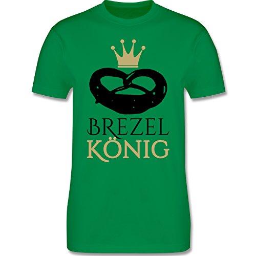 Oktoberfest Herren - Brezel König - Herren Premium T-Shirt Grün