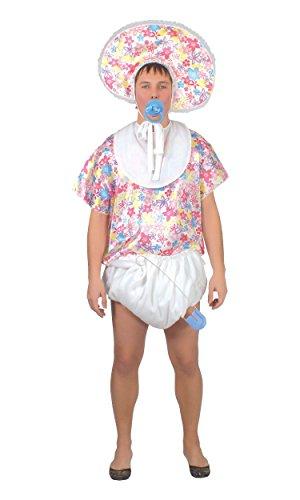 KOSTÜM - RIESEN BABY - Größe 52-54 (L), Schreihals Gagartikel (Mann Baby Kostüm)