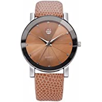 12shage Uhren Sport Leder Band Zifferblatt Armbanduhr für Mann