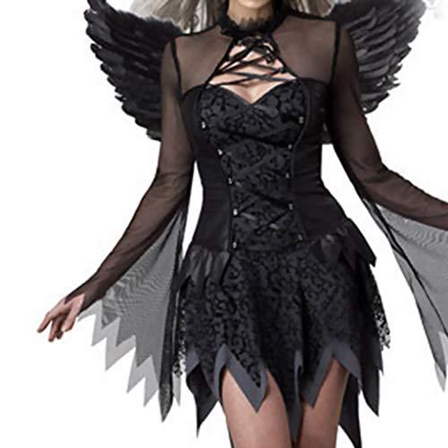Winkel Kostüm Dunkle - ELENXS Halloween Mädchen, Schwarz, Winkel Cosplay Kostüme erwachsenes Abend dunkle Winkel Partei Kostüme