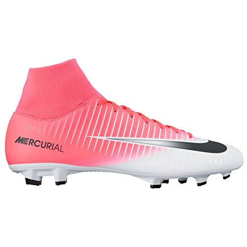 Nike Mercurial Victory Vi Df Fg, Chaussures de Football Homme Rose (Racer Pink/black-white-white)