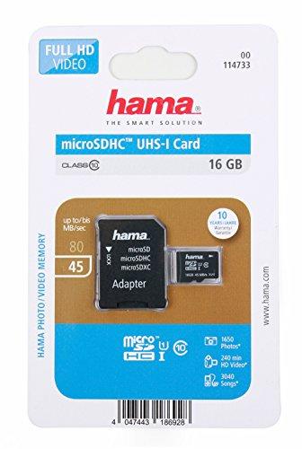 DURAGADGET Mikro-SD-Karte 16 GB für Spielekonsole Nintendo Switch Display 6,2 Zoll + SD-Adapter inklusive (Sandisk Ultra 16 Gb Sdhc)