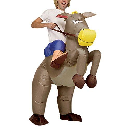 semen Air-Suit Aufblasbares Kostüm Pferd Dragon und Cowboy Fasching Karneval Spielzeug Bekleidung Funny Lustig Unisex - Air Suit Kostüm