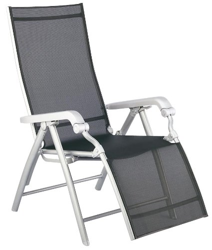 Kettler 01590-000 Fauteuil relax Lucca 100 x 67 x 117 cm (Argent/anthracite) (Import Allemagne)