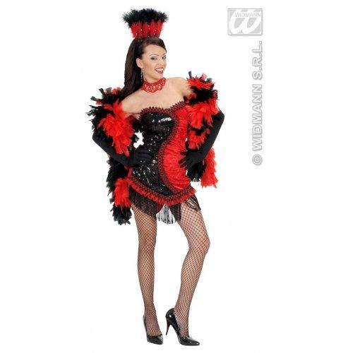 Sexy Vegas Showgirl schwarz/rot Gr.M