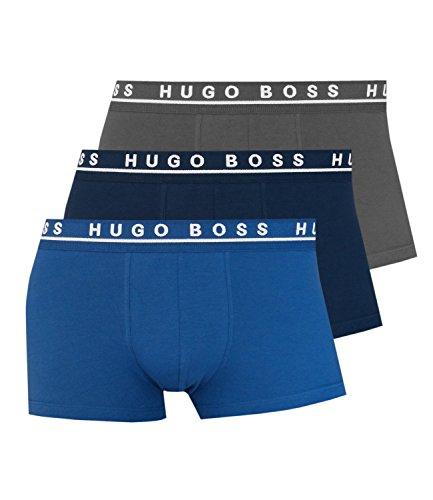 Hugo Boss Herren Boxershorts Unterhosen 10146061 3er Pack, Wäschegröße:M;Artikel:-487 open blue