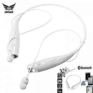 Almani Micromax Bolt A62 Compatible Sports Bluetooth Headset With Music and Call Function HBS 730 -White
