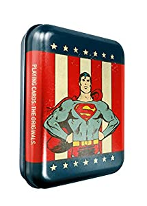 Cartamundi DC Comics Superman - Juego de Cartas en Lata con Relieve, Metal
