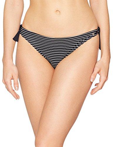 Marc O´Polo Damen Body & Beach W-Bikini-Slip, mehrfarbig (white /black 001), 38 (Herstellergröße: 12)