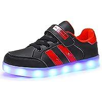 separation shoes 1dcc9 2300e Kauson Unisex Kinder LED Schuhe 7 Farbe USB Aufladen LED Leuchtend Outdoor  Sportschuhe Low Top Atmungsaktives