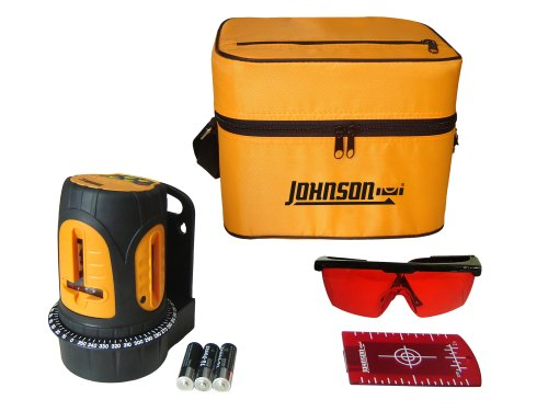 Crossline Level (Johnson Level and Tool 40-6602 Self-Leveling Cross Line Laser Level with 3 Vertical Lines by Johnson Level & Tool)