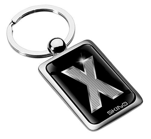 Portachiavi Metallo Lettera Regalo Iniziale Lettere Mazzo di Chiave Auto Moto Keychain Keyring Alfabeto Nome Acciaio Colore Argento Silver (X), KK 102