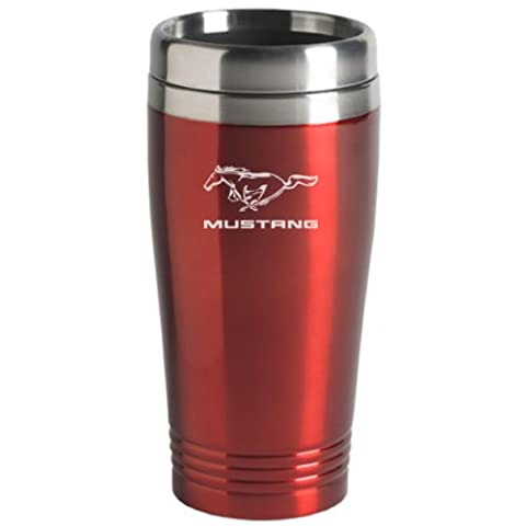 Ford Mustang Travel Mug Red by Au-Tomotive Gold, INC