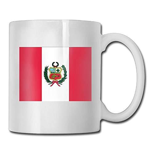 Daawqee Becher Coffee Mug Flag of Peru