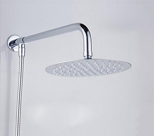 Sursy dusche, 304 edelstählen ultra thin badezimmer oben nebeldusche kopf unter druck,10 cm