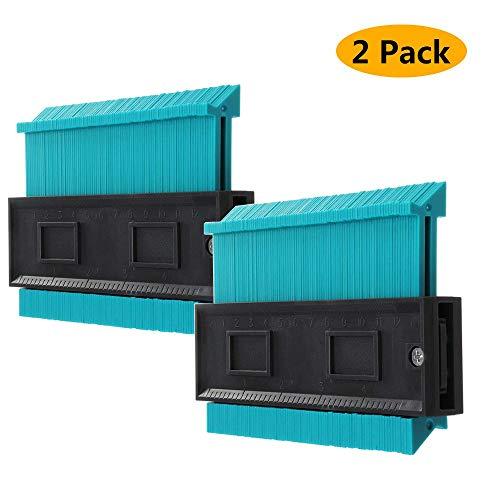Medidor de Contornos 120 mm, Copia de forma precisa Formas irregulares Azulejos de madera de ajuste perfecto Marcado Herramientas generales,2PACK